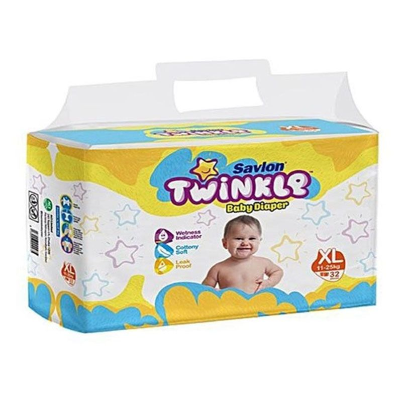 Twinkle Baby Diaper Pant- Extra Large (11-25) KG - 32 pcs