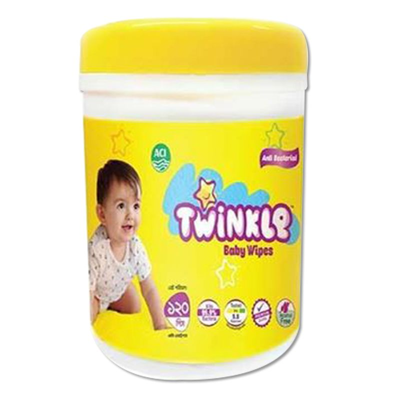 Twinkle Baby Wipes Jar - 120 pcs